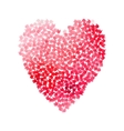big heart shape filled with hearts vector image vector image