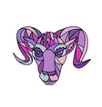 bighorn sheep ram mosaic color vector image vector image