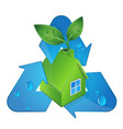bio house and alternative energy sources vector image vector image