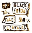Black Friday sale design elements in geometric vector image