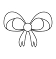 bowtie ribbon gift design vector image vector image