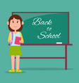bright back to school poster vector image vector image