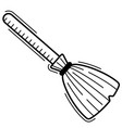 broom in linear style icon for halloween vector image