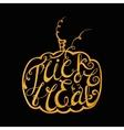 Calligraphic inscription Trick or treat vector image