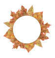 circle nature banners set with autumn leaves vector image vector image