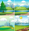 Cities and parks vector image vector image