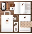 coffee house identity template vector image vector image