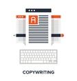 copywriting flat concept vector image vector image