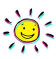 creative colorful a sun that smiles vector image vector image