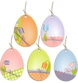 Cute easter scrapbooking tags vector image