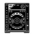 dj cd player on white background vector image