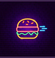 fast burger neon sign vector image