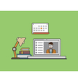Flat concept of e-learning Mobile education vector image vector image