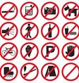 Forbidden icons set vector image