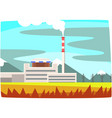 fossil fuel power station electricity generation vector image vector image