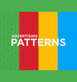 four different advertising seamless pattern vector image