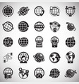 globe related icons set on white background for vector image