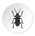 gray bug icon circle vector image vector image