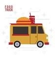 hamburger truck fast food icon graphic vector image vector image