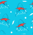 hand drawing shark and print vector image vector image