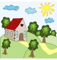 House and summer landscape vector image vector image