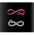 infinity love vector image vector image