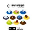 Isometric flat icons set 56 vector image vector image