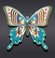 jewelry gold butterfly brooch pendant in precious vector image vector image