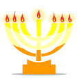 Jewish Lamp Menora With Lights vector image vector image