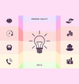 light bulb - new ideas graphic elements for your vector image vector image