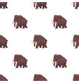 mammoth icon in cartoon style isolated on white vector image