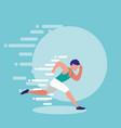 man athlete running avatar character vector image