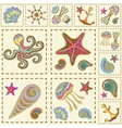 marine seamless pattern sea patchwork vector image