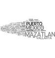 mazatlan word cloud concept vector image vector image