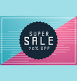memphis style sale voucher banner with deal vector image vector image