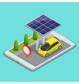 Mobile GPS navigation electric car charging vector image vector image