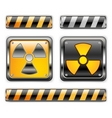 nuclear icon vector image vector image