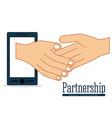 Partnership design vector image vector image