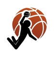 pictogram player and basketball design vector image vector image