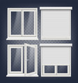 plastic window white metallic roller vector image vector image