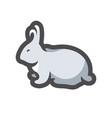 rabbit farm animal icon cartoon vector image
