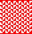 red and white geometric pattern background vector image vector image