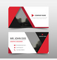 red triangle corporate business card name card vector image