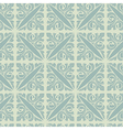 Retro silver blue vintage floral seamless pattern vector image vector image
