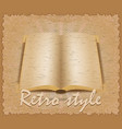retro style poster old book vector image