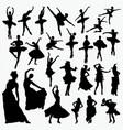 salasa ballet dancer silhouettes vector image