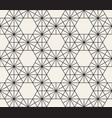 seamless hexagon geometric pattern simple vector image vector image
