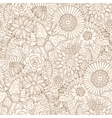 Seamless pattern with flowers and butterfly vector image vector image
