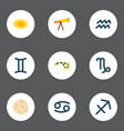 set of icons flat style symbols with gemin vector image vector image