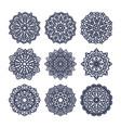 set of mandalas indian wedding meditation vector image vector image